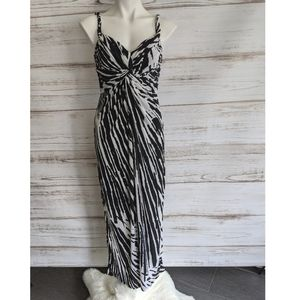 Muse Zebra Print Maxi Dress Sz 4